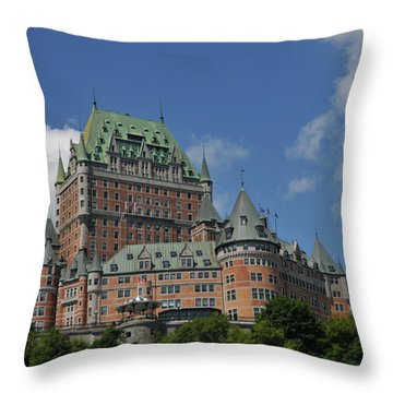 Le Chateau Frontenac  -- Quebec City Throw Pillow