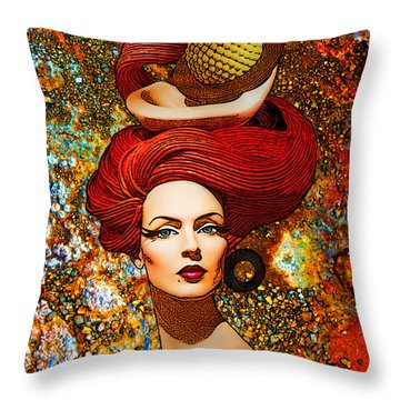 Le Cheveux Rouges Throw Pillow by Chuck Staley