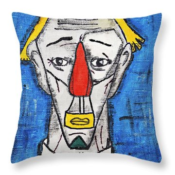 Le Clown Throw Pillow