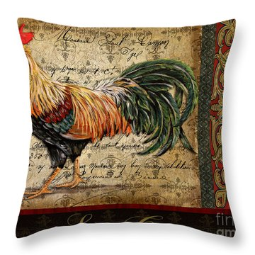 Le Coq-c Throw Pillow by Jean Plout