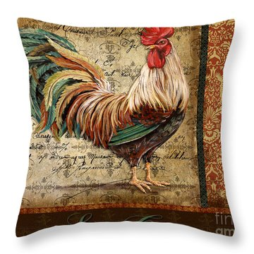 Le Coq-g Throw Pillow by Jean Plout