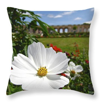 Le Fleur De Versailles Throw Pillow by Suzanne Oesterling