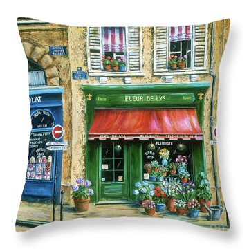Le Fleuriste Throw Pillow