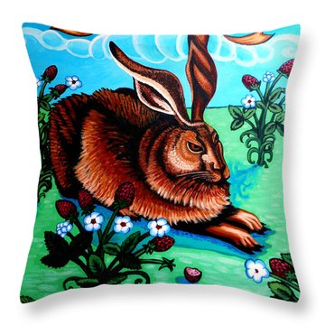 Le Grand Lapin Anarchie Throw Pillow by Genevieve Esson