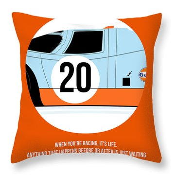 Le Mans Poster 2 Throw Pillow