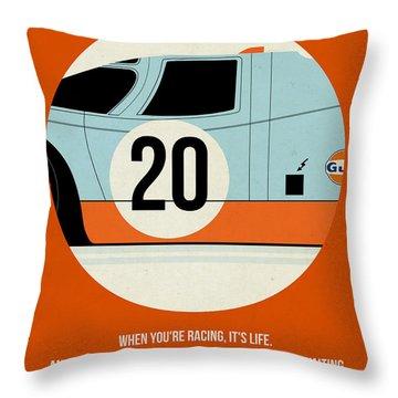 Le Mans Poster Throw Pillow