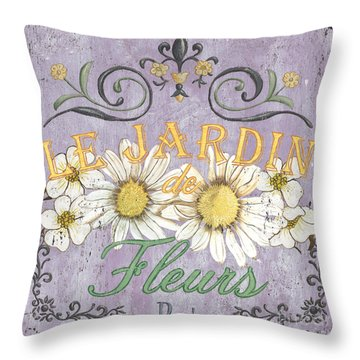 Le Marche Aux Fleurs 5 Throw Pillow by Debbie DeWitt