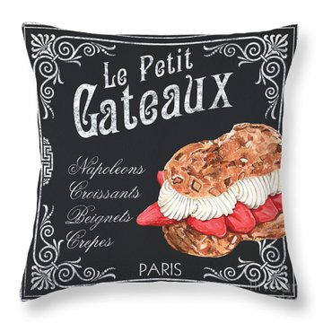 Le Petit Gateaux Throw Pillow