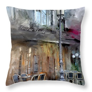 Le Petit Paris Throw Pillow