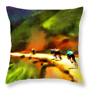 Le Tour De France 02 Throw Pillow