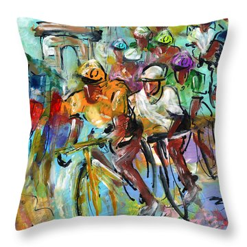 Le Tour De France Madness 02 Throw Pillow
