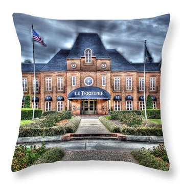 Throw Pillow featuring the photograph Le Triomphe by Cecil Fuselier