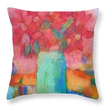 Le Vase Jardin Throw Pillow by Venus