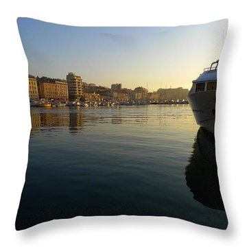 Le Vieux Port Marseille Throw Pillow