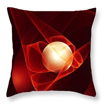Throw Pillow featuring the digital art Lead Me Into Temptation by Gabiw Art