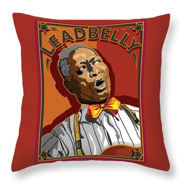 Leadbelly Delta Blues Throw Pillow by Larry Butterworth