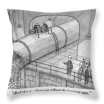 Leading A Federal Reserve Tour Group Throw Pillow