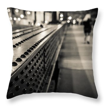 Leading Across Throw Pillow