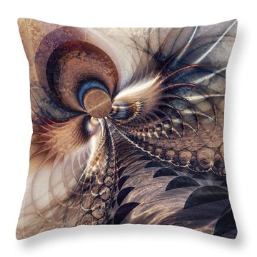 Throw Pillow featuring the digital art Leading The Way by Kim Redd