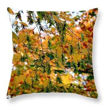 Leaf Breezes Throw Pillow by Deborah  Crew-Johnson