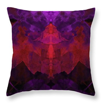 Leaf Changes Throw Pillow by Lynda Lehmann