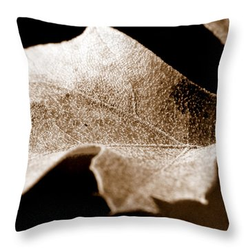 Leaf Collage 1 Throw Pillow