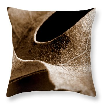 Throw Pillow featuring the photograph Leaf Collage 3 by Lauren Radke