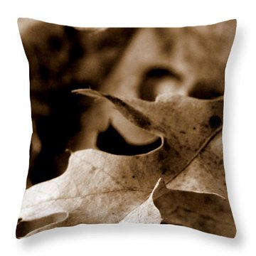 Throw Pillow featuring the photograph Leaf Collage 4 by Lauren Radke