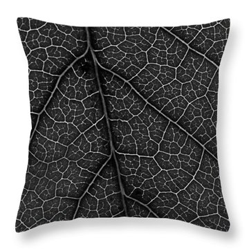 Leaf In Detail Throw Pillow