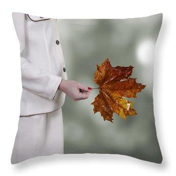 Leaf Throw Pillow by Joana Kruse