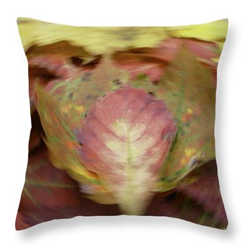 Leaf On Leaves 1 Throw Pillow