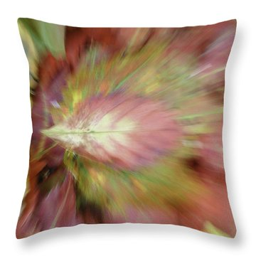Leaf On Leaves 2 Throw Pillow