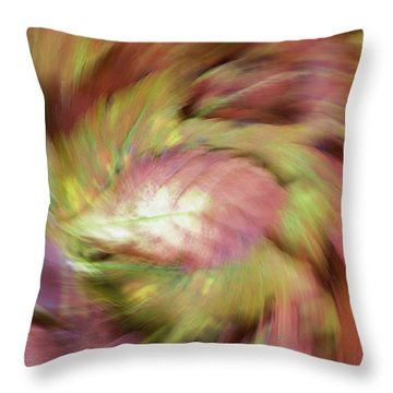 Leaf On Leaves 3 Throw Pillow