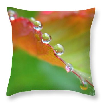 Leaf Pearls Throw Pillow