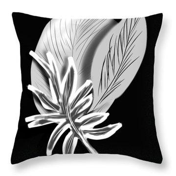 Leaf Ray Throw Pillow by Christine Fournier