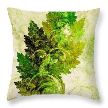 Leaf Reflection Throw Pillow