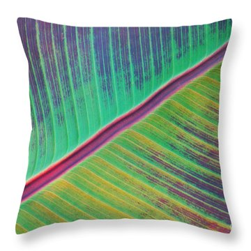 Leaf Structure Throw Pillow