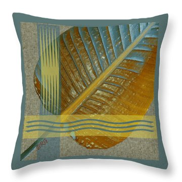 Leaf Study I Throw Pillow by Ben and Raisa Gertsberg