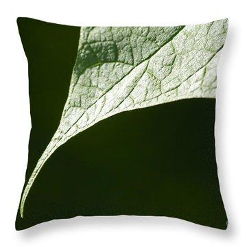 Leaf Throw Pillow by Tony Cordoza