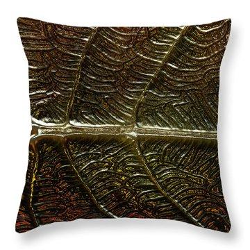 Leafage Throw Pillow by Richard Thomas