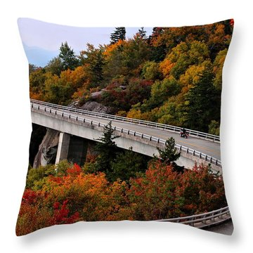 Lean In For A Ride Throw Pillow