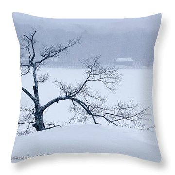 Lean On Me Throw Pillow by Ann Murphy