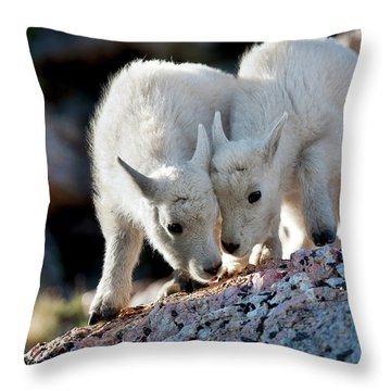 Lean On Me Throw Pillow