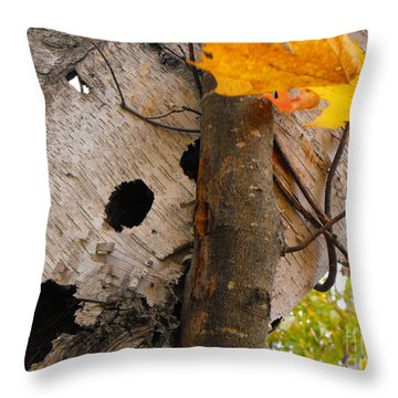 Leaning Birch Throw Pillow