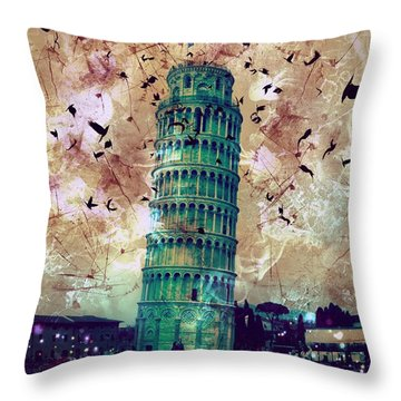 Leaning Tower Of Pisa 1 Throw Pillow