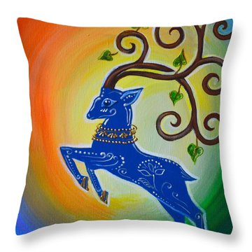 Leap Into Happiness Throw Pillow