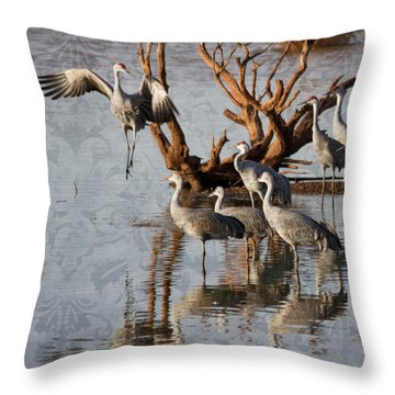 Leap Of Faith Throw Pillow by Beverly Parks