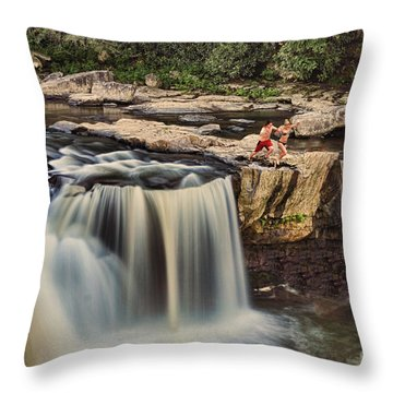 Leap Of Faith Throw Pillow by Dan Friend