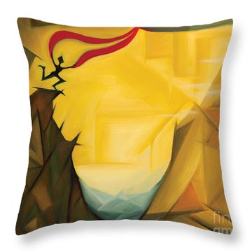 Leap Of Faith Throw Pillow by Tiffany Davis-Rustam