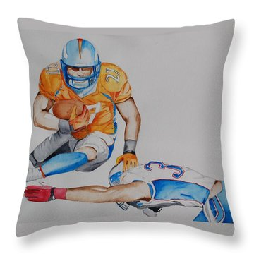 Leap To The Finish Throw Pillow